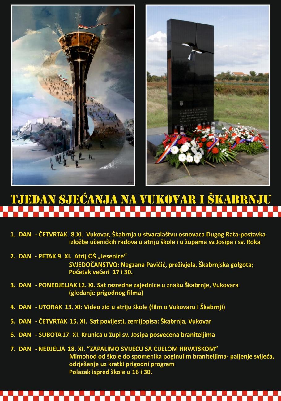 Tjedan sjećanja na Vukovar i Škabrnju